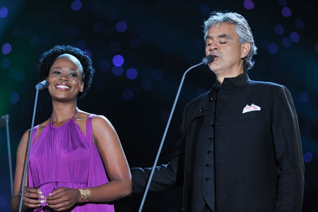 Soprano Pretty Yende joins tenor Andrea Bocelli in a free concert on Central ...