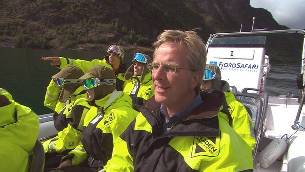 Rick Steves with FjordSafari. FjordSafari takes little groups out onto the fj...