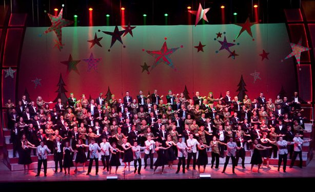 The cast of the Purdue Christmas Show