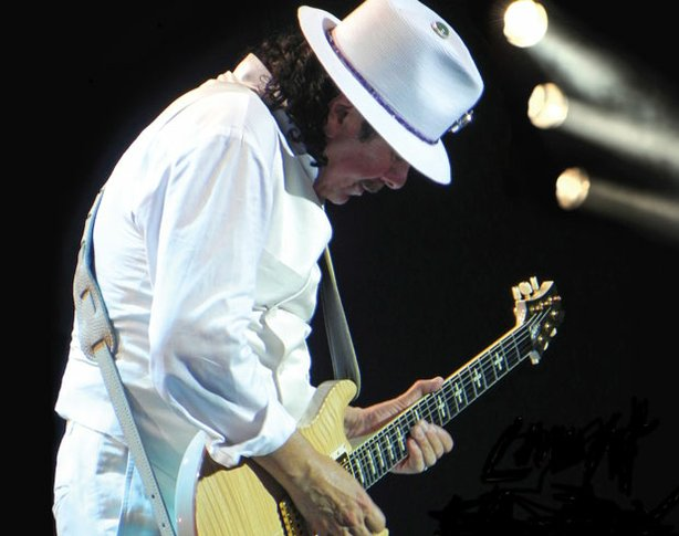 Legendary guitarist Carlos Santana, performs at the Montreux Jazz Festival, 2011.