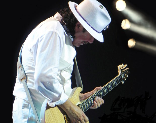 Legendary guitarist Carlos Santana, performs at the Montreux Jazz Festival, 2...