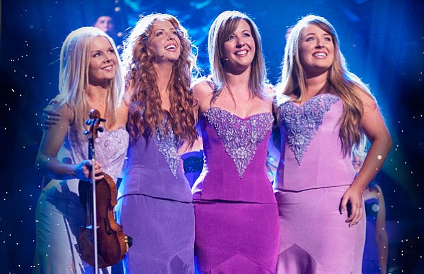 Celtic violinist Máiréad Nesbitt and vocalists Lisa Lambe, Lisa Kelly and Chl...