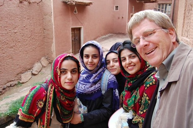 Rick Steves makes new friends in Iran. Welcoming travelers is a traditional M...
