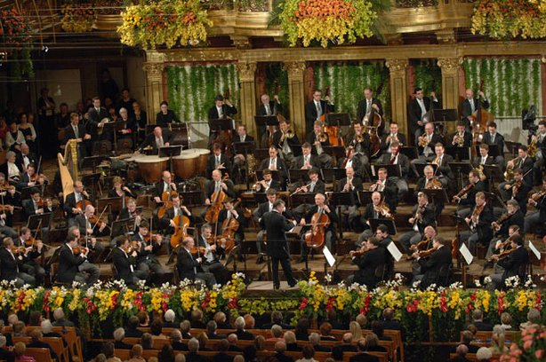 The Vienna Philharmonic at Vienna's opulent Musikverein.
