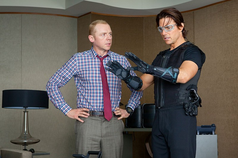 Simon Pegg and Tom Cruise on a covert assignment in