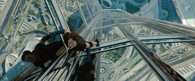 Tom Cruise on the world's tallest building in
