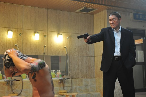 "Beat Takashi dispensing with rivals in ""Outrage."""