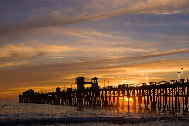 The Oceanside Pier in San Diego County on Feb. 23, 2009.