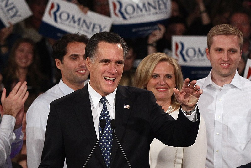 Republican presidential candidate and former Massachusetts Gov. Mitt Romney (...