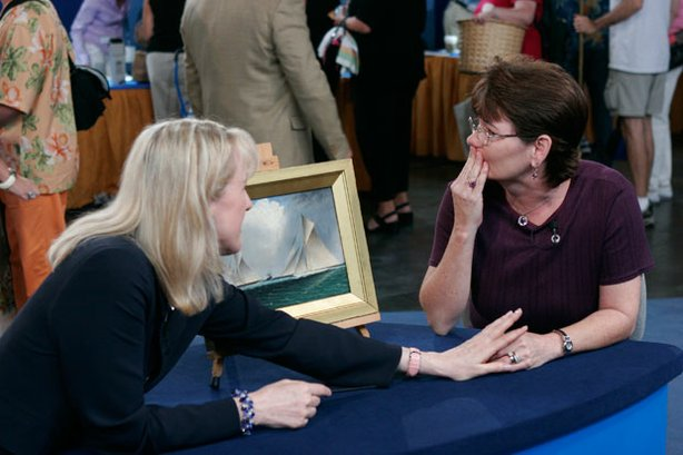Lightning strikes twice at ANTIQUES ROADSHOW in Tampa, Florida, when a second...
