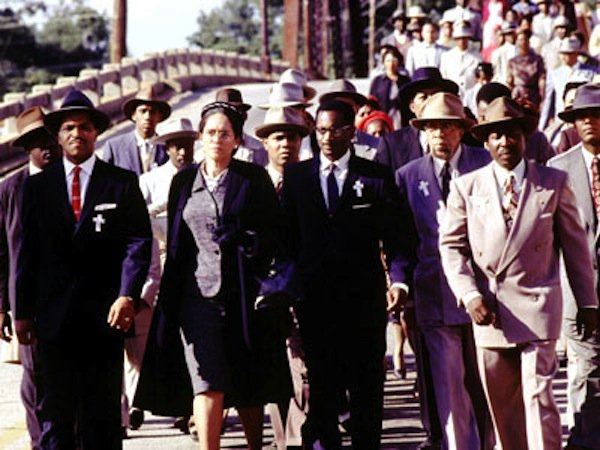 "Jeffrey Wright (far left) plays Martin Luther King, Jr. in the HBO show ""Boycott."""
