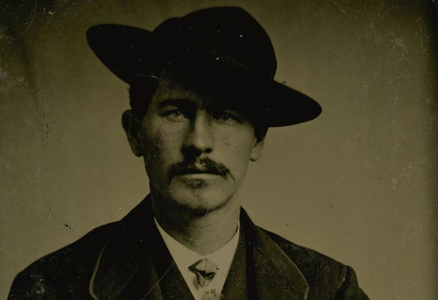 Wyatt Earp in mid-1870s, wearing a business suit.