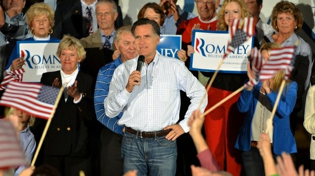 GOP presidential candidate former Massachusetts Gov. Mitt Romney kicks off his Florida campaign with a rally at All-Star Building Materials in Ormond Beach, Fla.