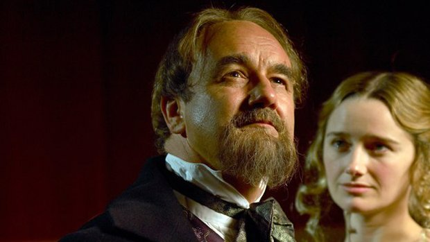 Charles Dance as British novelist Charles Dickens and Sarah Aspinall as Nelly...