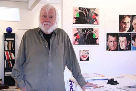 John Baldessari in his studio, Venice, California, 2005. Photograph by Cather...