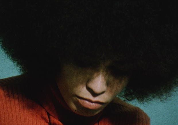 Angela Davis at the San Rafael County Prison, 1972. Davis is an American poli...
