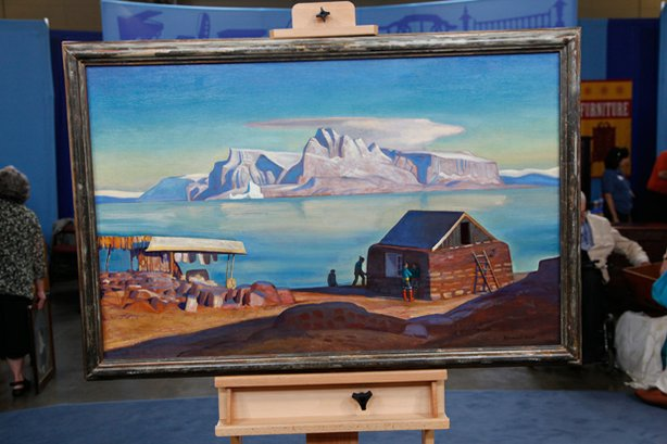 A stunning 1946 oil painting by Rockwell Kent. The painting was inherited fro...
