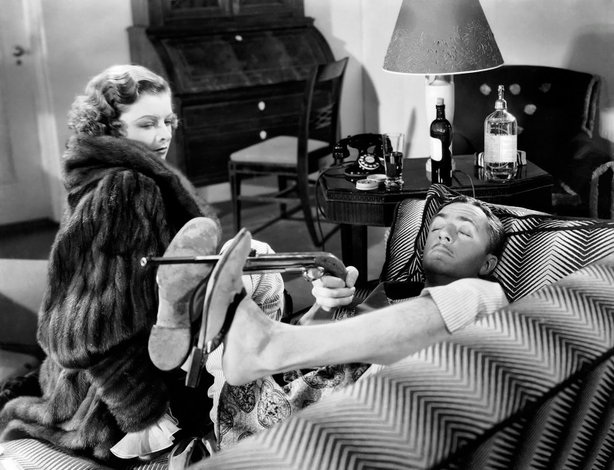"Myrna Loy and WIlliam Powell in ""The Thin Man"" (1934). They made marriage loo..."