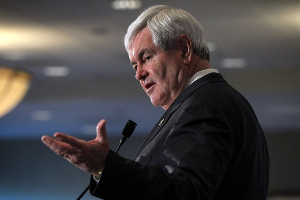 Gingrich Holds Final Campaign Event On Super Tuesday.