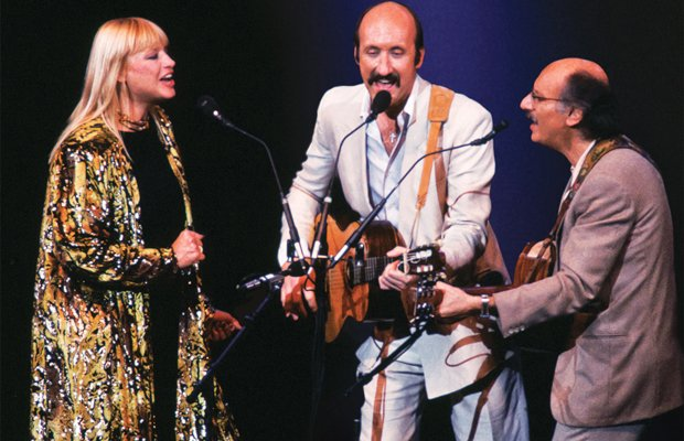 The legendary music trio Peter, Paul and Mary from left to right: Mary Traver...