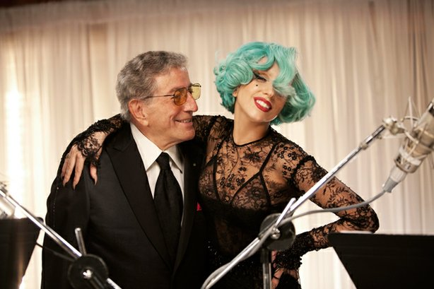 "Tony Bennett is joined by Lady Gaga for ""The Lady Is a Tramp."""