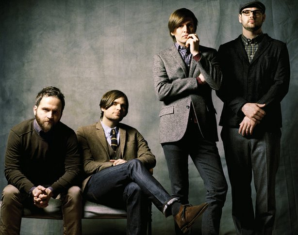 Death Cab For Cutie from left to right: Nicholas Harmer, Benjamin Gibbard, Ch...