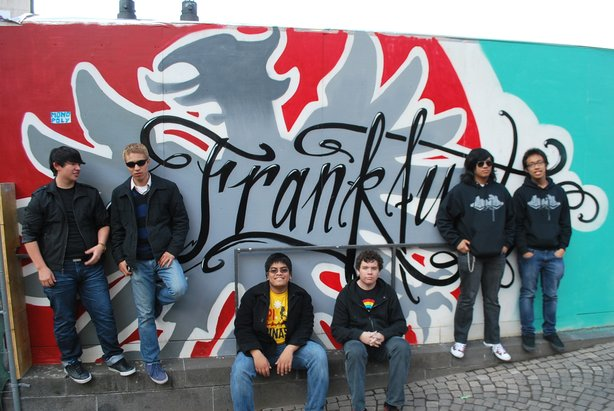 John Avery, Harim Garza, Chaz Cabrera, Tyler Kreutel, Josh Vasquez, and Marc Encabo of Jazz Avenue in Germany.