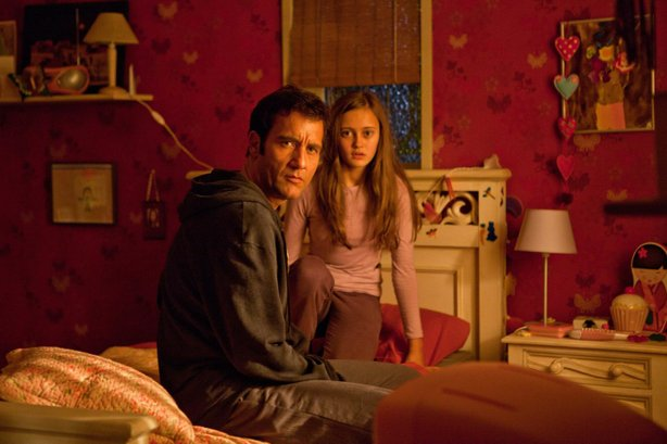 "Clive Owen and Ella Purnell star as father and daughter in ""Intruders."""