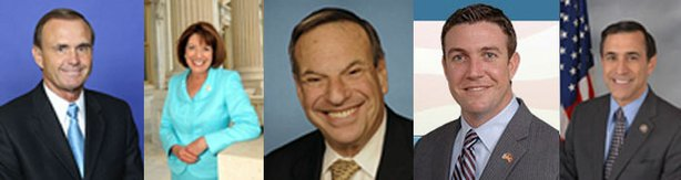 San Diego's five Congressional delegates.