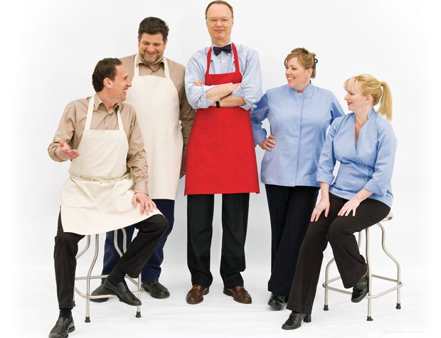 Cast members of AMERICA's TEST KITCHEN: Jack Bishop, Adam Ried, Christopher K...