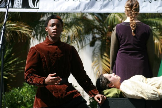 "Carlsbad High performed a scene from Shakespeare's ""Othello"" at last year's San Diego Student Shakespeare Festival."