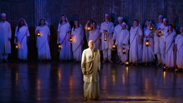 "Richard Croft portrays Gandhi in Philip Glass' unforgettable opera, ""Satyagraha."""