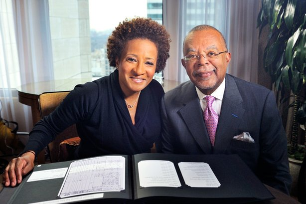 Wanda Sykes and Henry Louis Gates, Jr. during the filming of FINDING YOUR ROOTS.