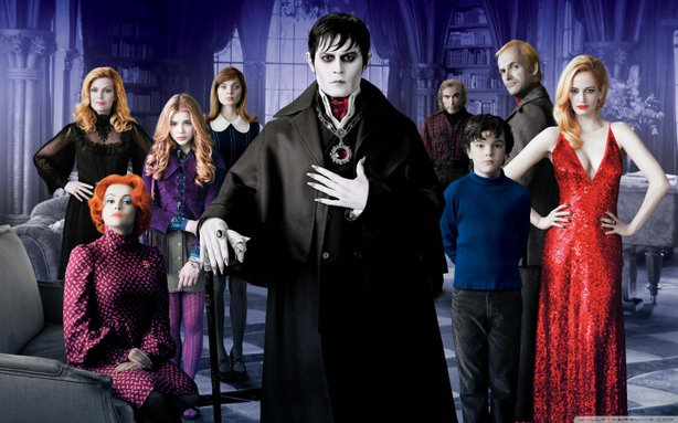 """Johnny Depp heads the Collins Clan in the remake of the cult TV show """"Dark Shadows.:"""