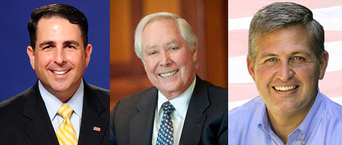 Steve Danon, Carl Hilliard and Dave Roberts, candidates for San Diego County ...