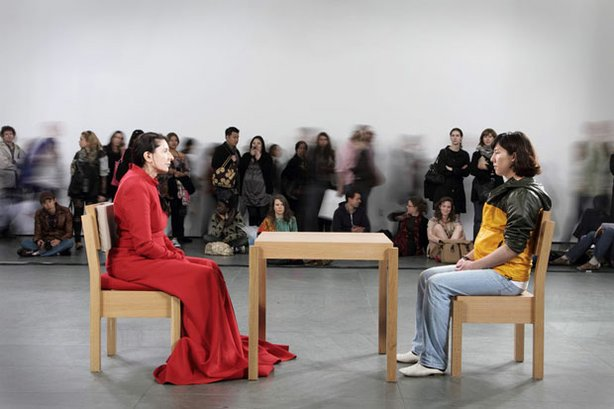 "Marina Abramović ""The Artist Is Present,"" 2010. Performance, 3 Months. The Museum of Modern Art, New York. Photo: Marco Anelli (for the Museum of Modern Art, New York)."