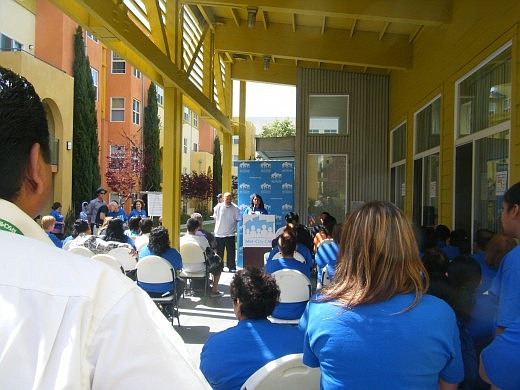 Speaking at a May 12 community forum, City Heights youth and City College stu...