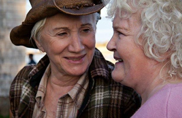 "Olympia Dukakis and Brenda Fricker star in ""Cloudburst,"" this year's opening ..."