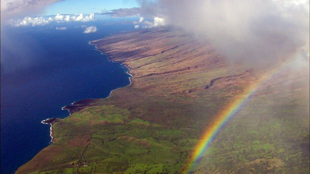 Aerial photo of Maui as featured in