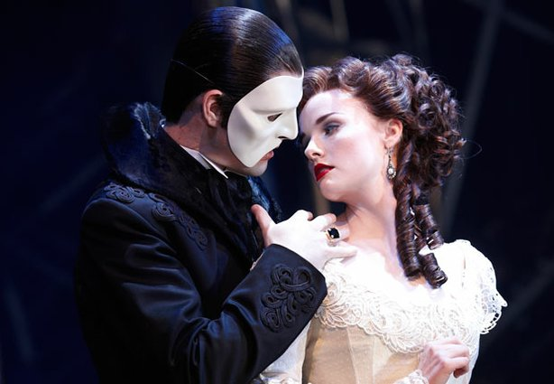 "Ben Lewis as the Phantom and Anna O'Byrne as Christine star in ""Love Never Di..."