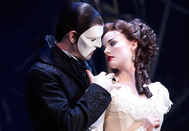Ben Lewis as the Phantom and Anna O'Byrne as Christine star in