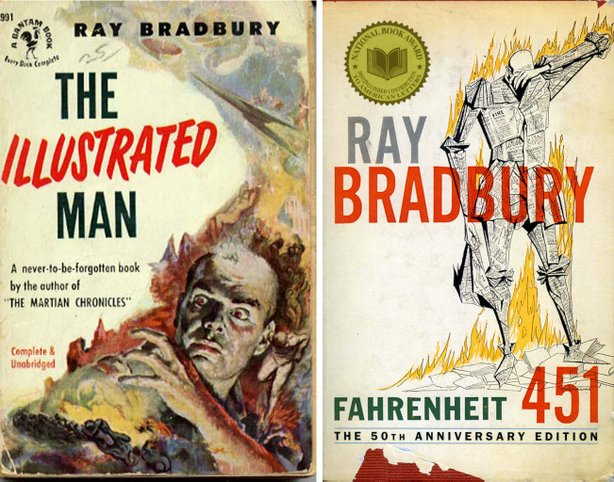 Covers from 2 of Ray Bradbury's books.