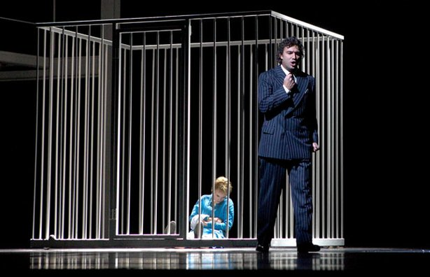 Marina Poplavskaya as Marguerite and Jonas Kaufmann as the title character in...