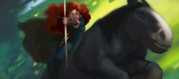 "Animation art from ""Brave."""