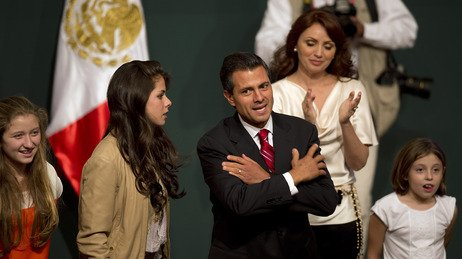Enrique Peña Nieto and his family celebrated in Mexico City after he claimed ...