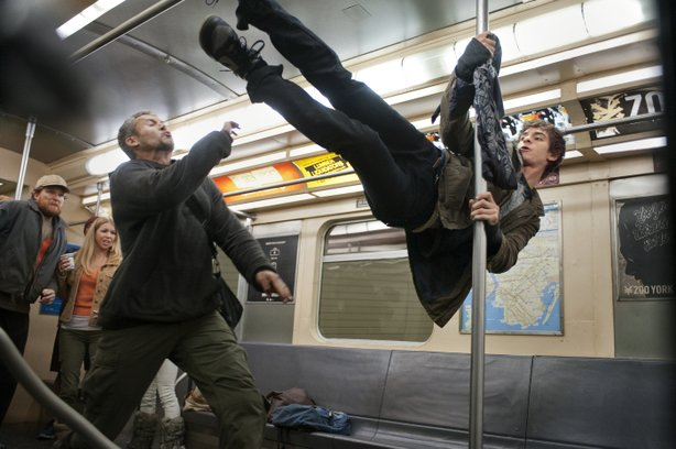 "Andrew Garfield delivers a more agile and acrobatic Peter Parker/Spidey in ""The Amazing Spider-Man."""