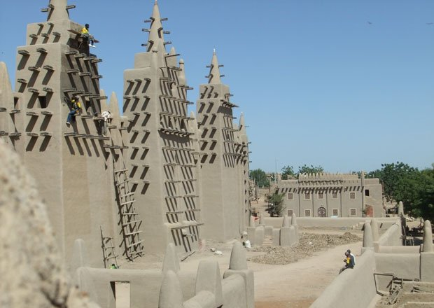 Djenné Mosque, Mali, Africa. Travel to nine countries and across 1,400 years ...