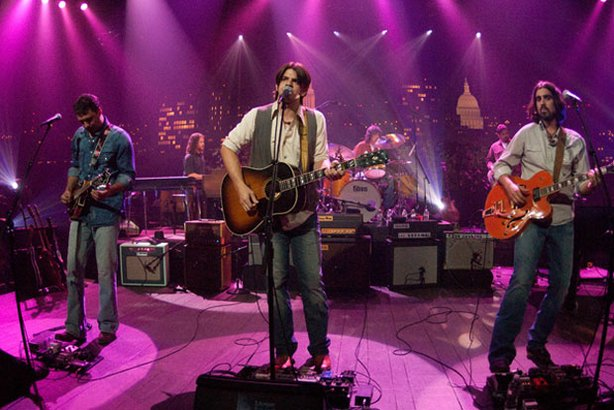 Austin's rootsy songwriting collective The Band of Heathens performs on the AUSTIN CITY LIMITS stage.