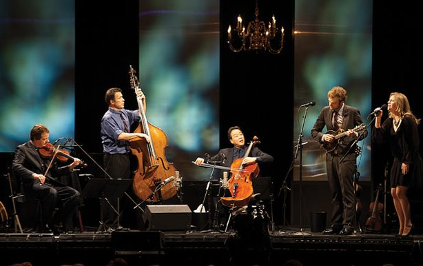 The Goat Rodeo musicians (l-r) Stuart Duncan, Edgar Meyer, Yo-Yo Ma and Chris...