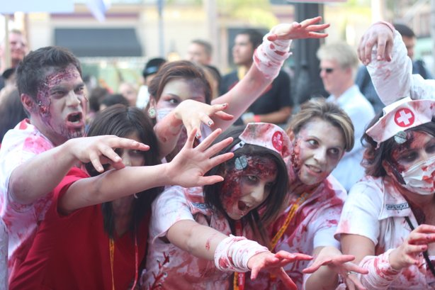 The day after Brooks hosts a trio of zombie panels, San Diego Zombie Walk takes to the streets for Zombie Rights.